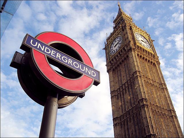 Métro de Londres et Big Ben