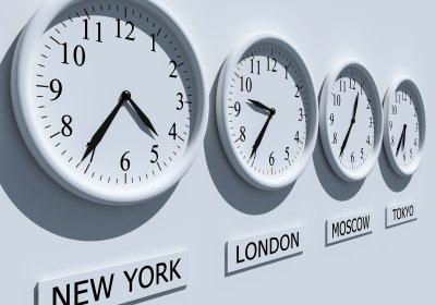 Décalage horaire dans le Monde