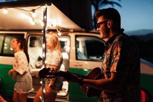 camping soirée guitare